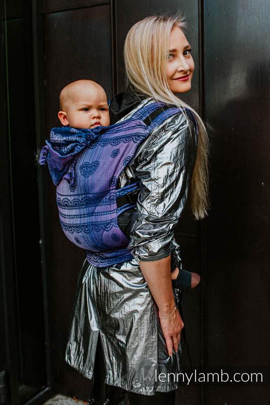 LennyGo Ergonomic Carrier, Baby Size, jacquard weave 65% cotton 25% linen 10% tussah silk - SPACE  LACE #babywearing