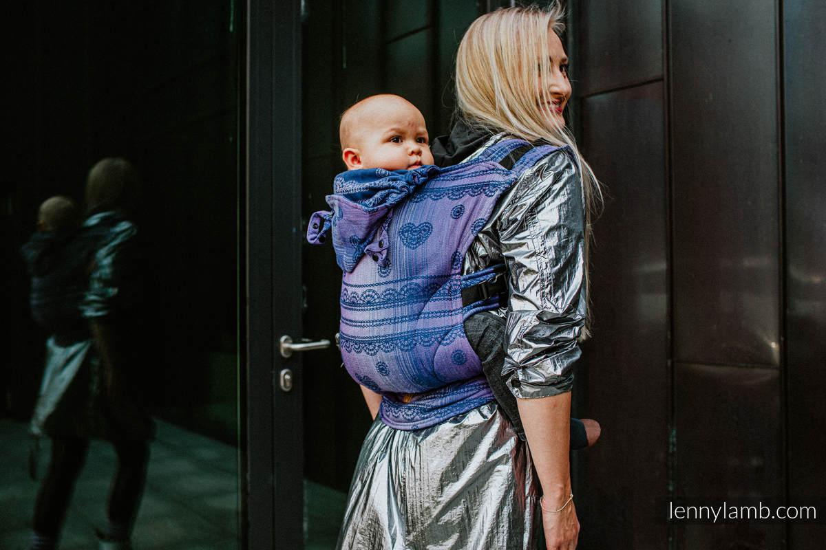 Nosidełko Ergonomiczne LennyGo, z tkaniny żakardowej 65% Bawełna 25% Len 10% Jedwab Tussah, Baby Size - KOSMICZNA KORONKA #babywearing