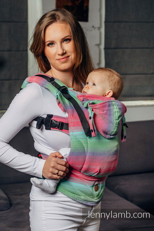 LennyGo Basic Line Ergonomic Carrier - FUSION, Toddler Size, twill weave 100% cotton  #babywearing