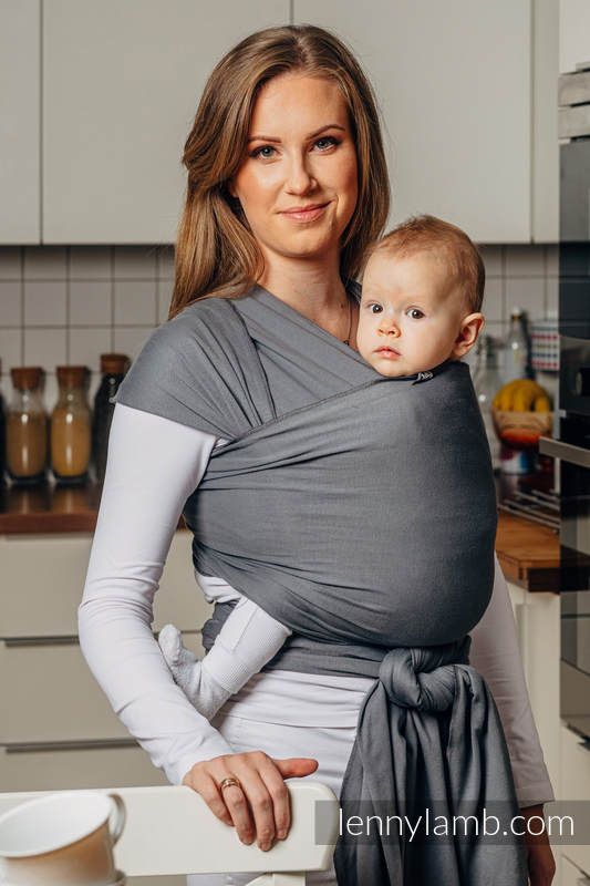 Stretchy/Elastic Baby Sling - Anthracite - standard size 5.0 m #babywearing