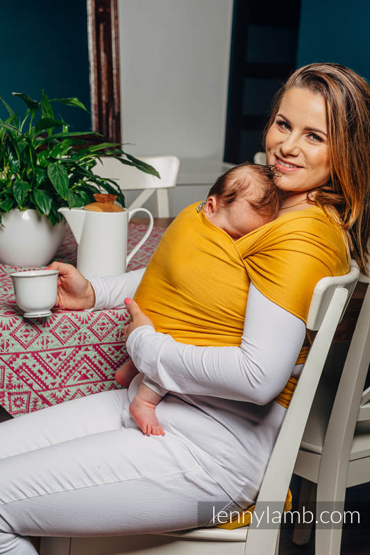 Stretchy/Elastic Baby Sling - Amber - standard size 5.0 m #babywearing