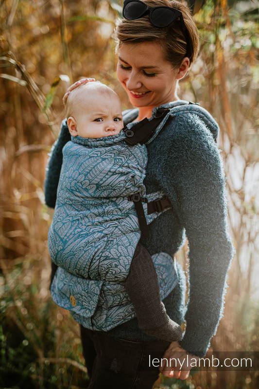 LennyUpGrade Carrier, Standard Size, jacquard weave (59% cotton, 28% Merino wool, 9% silk, 4% cashmere) - WILD SOUL - LIBERTY #babywearing