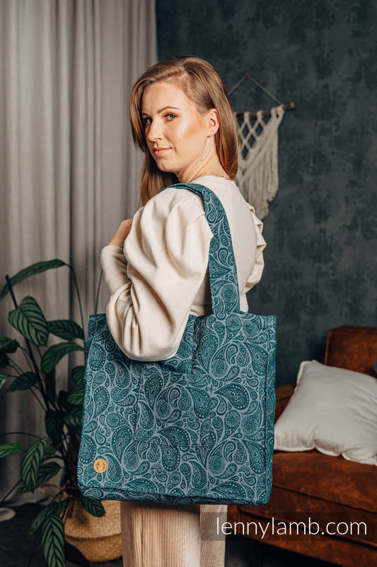 Shoulder bag made of wrap fabric (100% cotton) - PAISLEY - HABITAT - standard size 37cmx37cm #babywearing