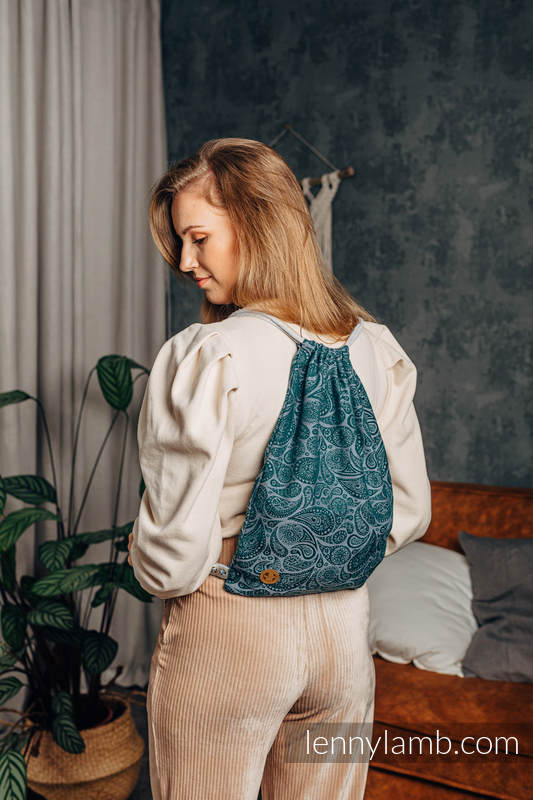Sackpack made of wrap fabric (100% cotton) - PAISLEY - HABITAT - standard size 32cmx43cm #babywearing