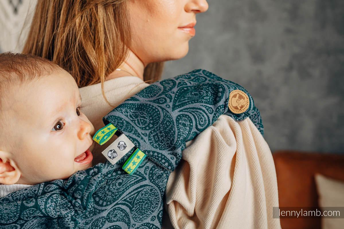 Drool Pads & Reach Straps Set, (60% cotton, 40% polyester) - PAISLEY - HABITAT #babywearing