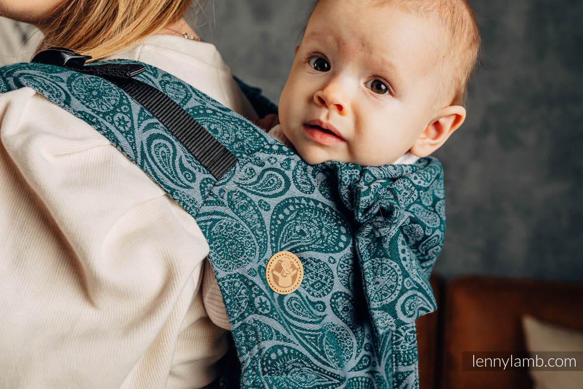 Lenny Buckle Onbuhimo baby carrier, standard size, jacquard weave (100% cotton) - PAISLEY - HABITAT #babywearing