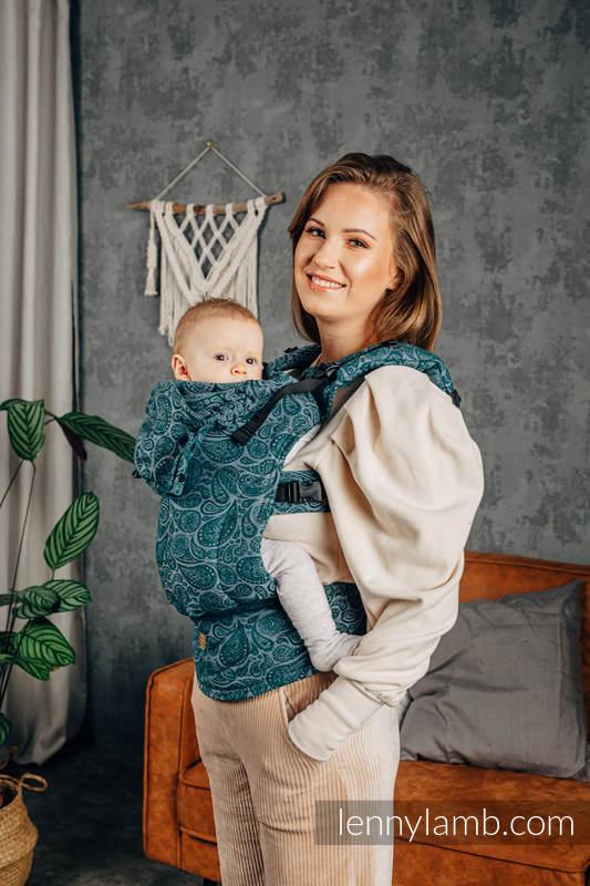 LennyGo Ergonomic Carrier, Baby Size, jacquard weave 100% cotton - PAISLEY - HABITAT #babywearing