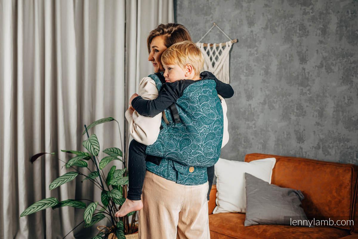 Nosidełko LennyPreschool  z tkaniny żakardowej 100% bawełna, rozmiar preschool - PAISLEY - HABITAT #babywearing