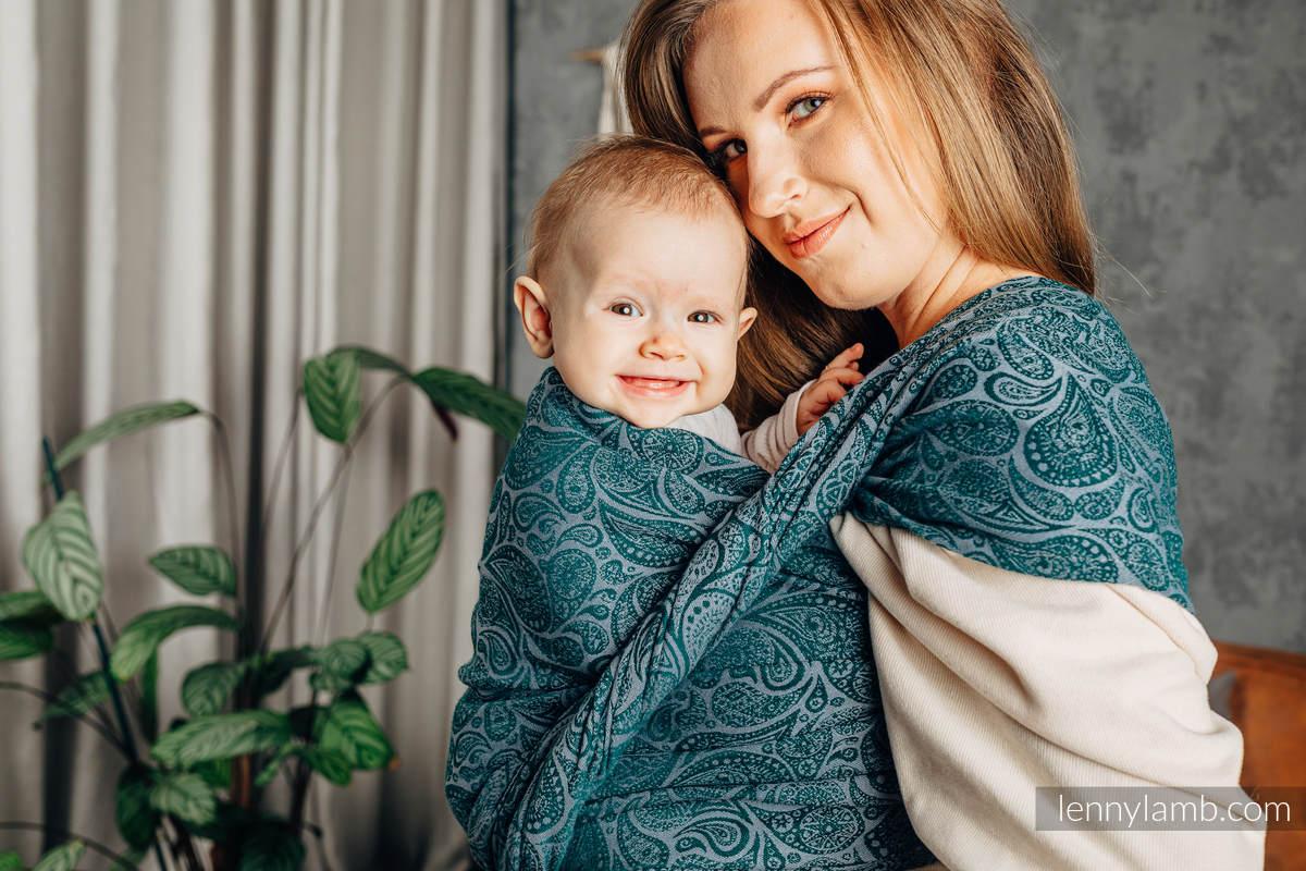 Baby Wrap, Jacquard Weave (100% cotton) - PAISLEY - HABITAT - size XS #babywearing