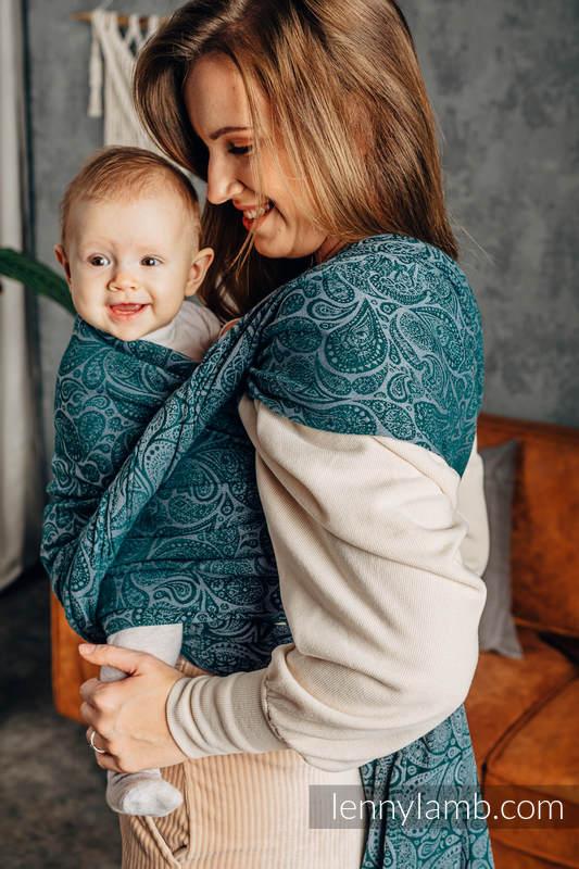 Żakardowa chusta do noszenia dzieci, bawełna - PAISLEY - HABITAT - rozmiar XS #babywearing