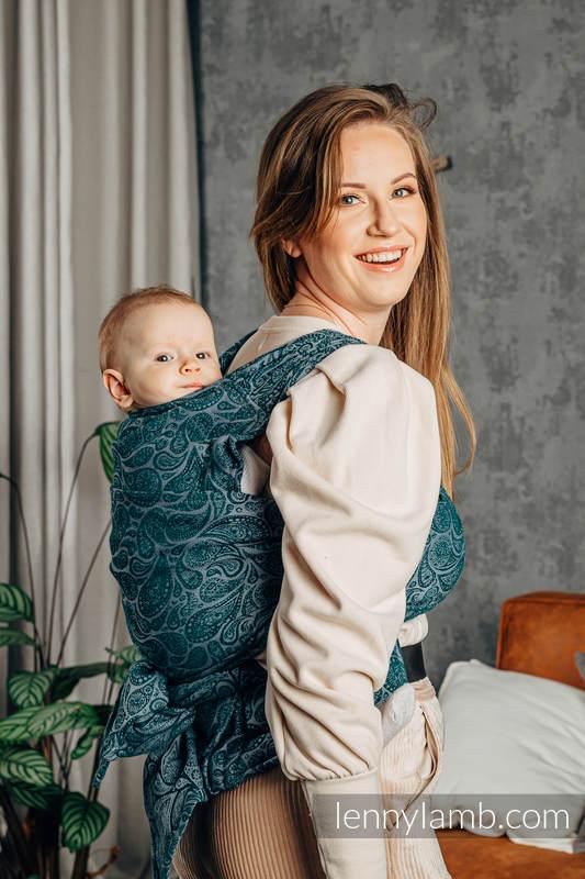 LennyHybrid Half Buckle Carrier, Standard Size, jacquard weave 100% cotton - PAISLEY - HABITAT #babywearing