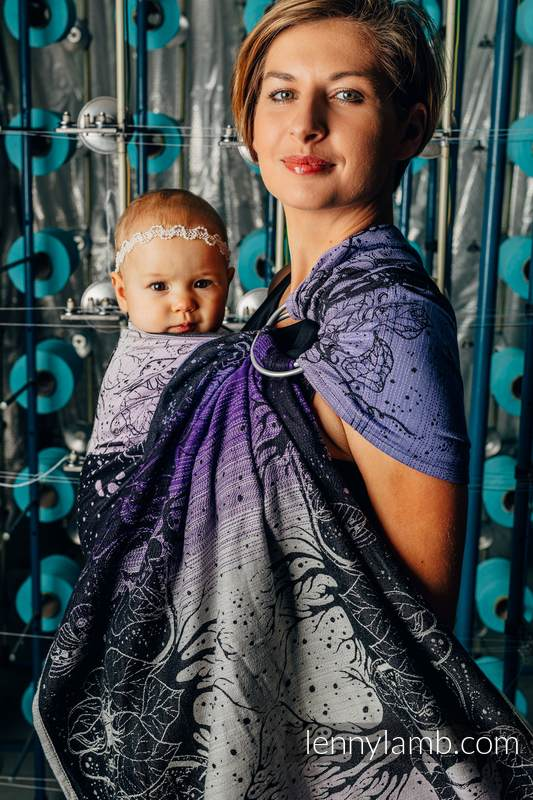 Ringsling, Jacquard Weave (100% cotton), with gathered shoulder - WEAVING CHALLENGE - LIFELONG - standard 1.8m #babywearing