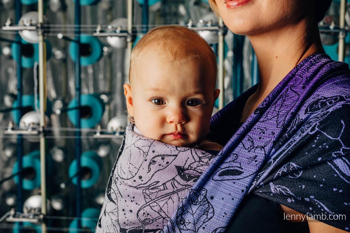 Tragetuch, Jacquardwebung (100% Baumwolle) - WEAVING CHALLENGE - LIFELONG - Größe M #babywearing