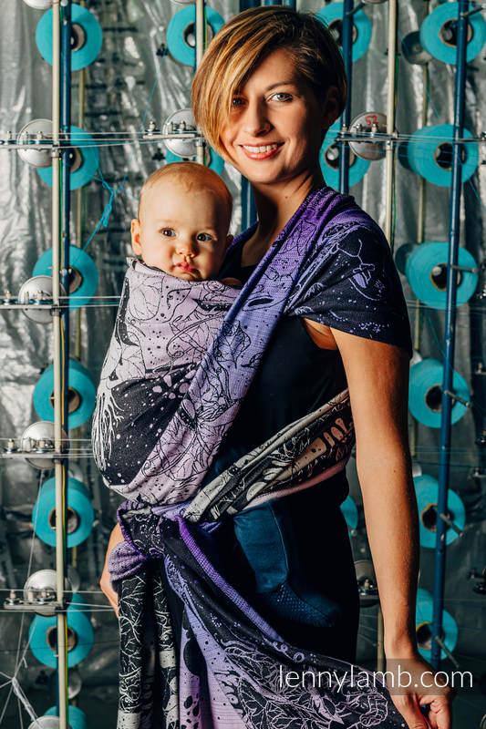 Tragetuch, Jacquardwebung (100% Baumwolle) - WEAVING CHALLENGE - LIFELONG - Größe L #babywearing