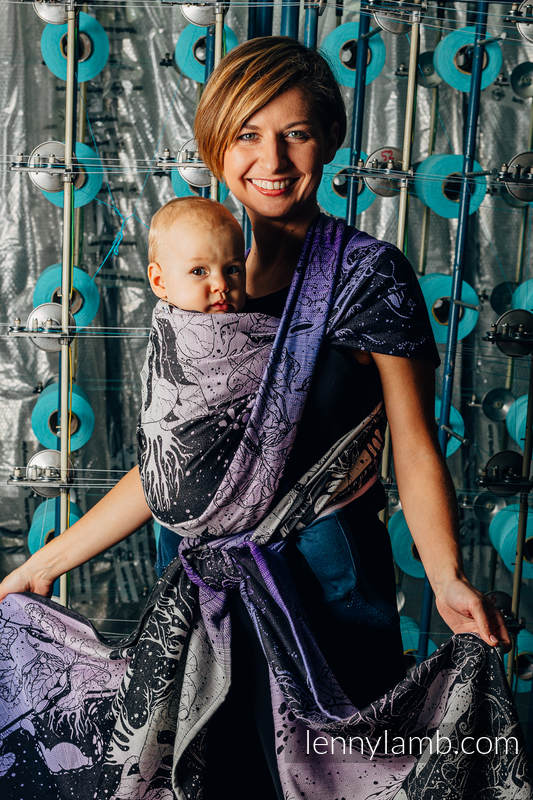 Żakardowa chusta do noszenia dzieci, 100% bawełna - WEAVING CHALLENGE - LIFELONG - rozmiar XS #babywearing