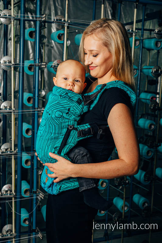 LennyUpGrade Tragehilfe, Größe Standard, Jacquardwebung, 100% Baumwolle - WEAVING CHALLENGE - MOTHERBOARD #babywearing