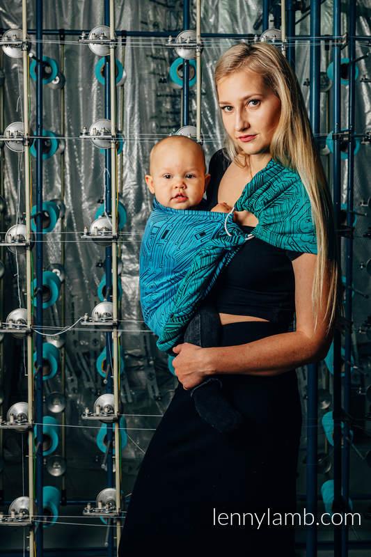 RingSling, Jacquardwebung (100% Baumwolle), mit Raffung an den Ringen - WEAVING CHALLENGE - MOTHERBOARD - standard 1.8m #babywearing