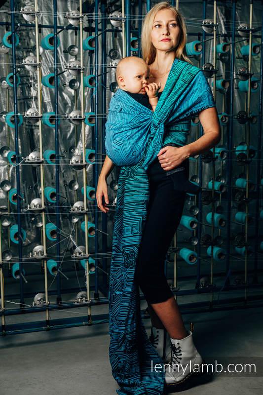 Baby Wrap, Jacquard Weave (100% cotton) - WEAVING CHALLENGE - MOTHERBOARD - size XS #babywearing
