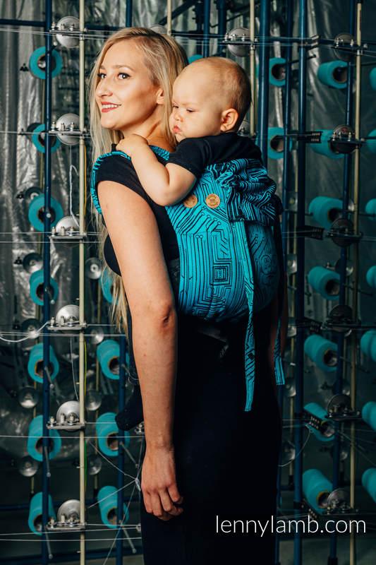 Lenny Buckle Onbuhimo Tragehilfe, Größe Standard, Jacquardwebung (100% Baumwolle) - WEAVING CHALLENGE - MOTHERBOARD #babywearing