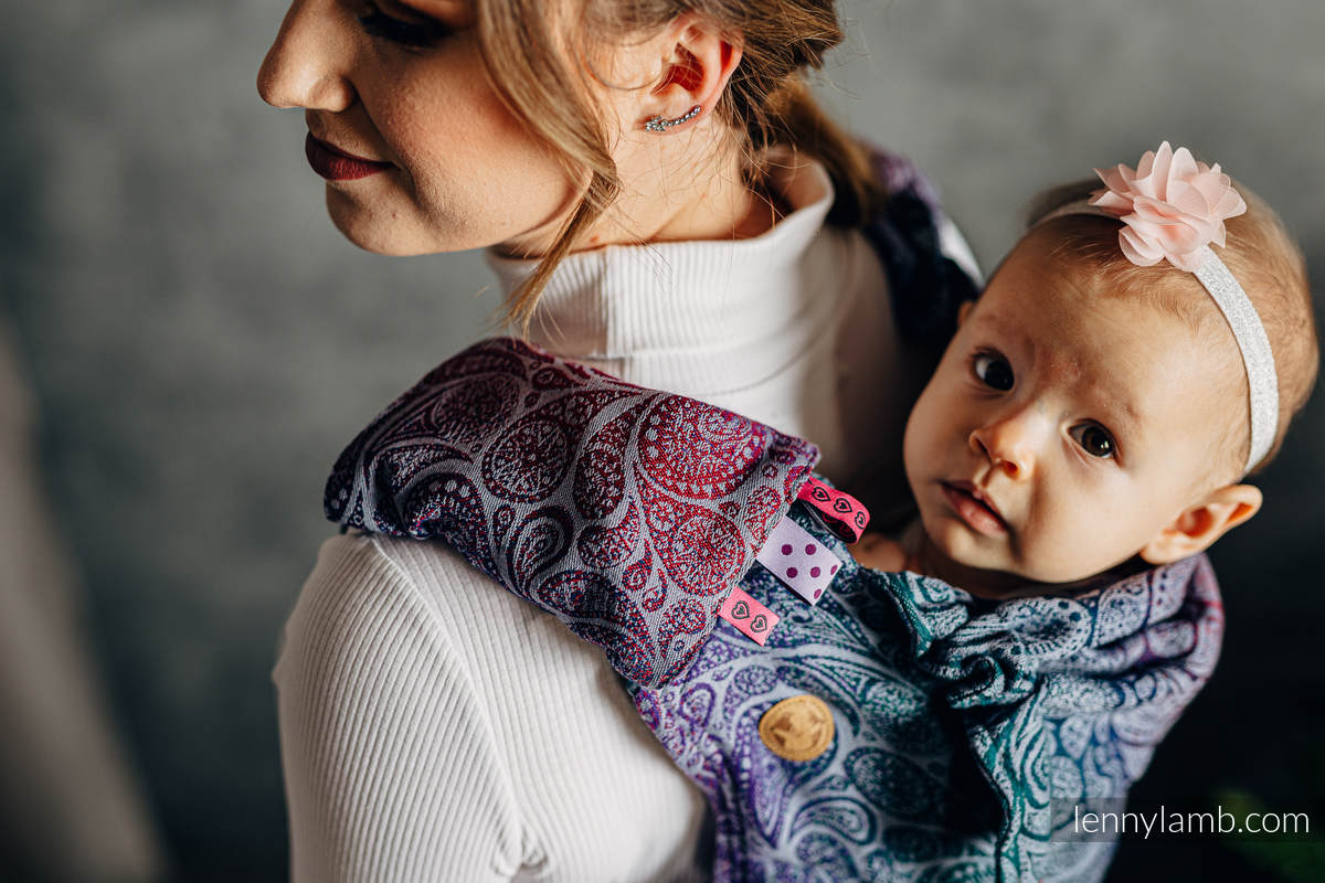 Schultergurtschoner (60% Baumwolle, 40% poliester) - PAISLEY - KINGDOM  #babywearing