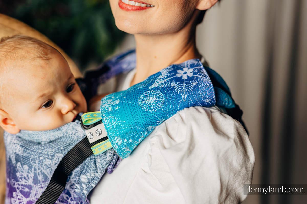 Set de protege tirantes y tiras de alcance (60% algodón, 40% Poliéster) - SNOW QUEEN - CRYSTAL #babywearing