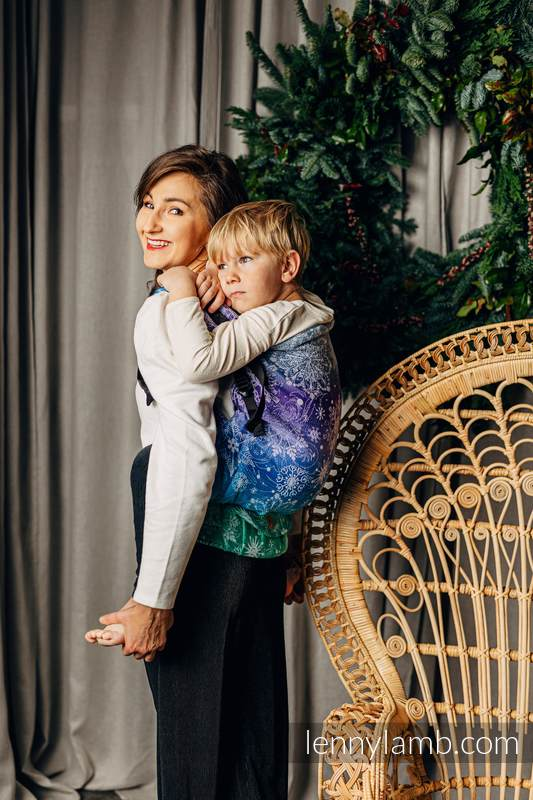 LennyPreschool Carrier, Preschool Size, jacquard weave 100% cotton - SNOW QUEEN - CRYSTAL #babywearing