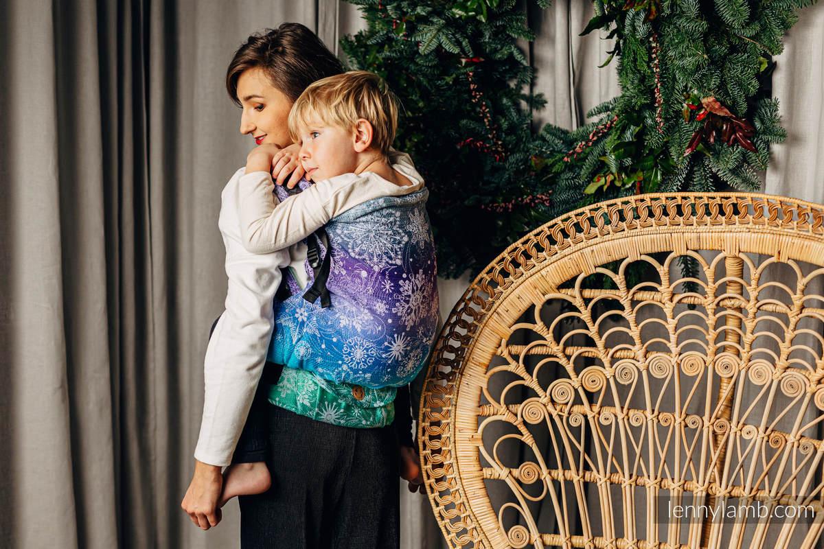 LennyPreschool Tragehilfe, Größe Preschool, Jacquardwebung, 100% Baumwolle - SNOW QUEEN - CRYSTAL #babywearing
