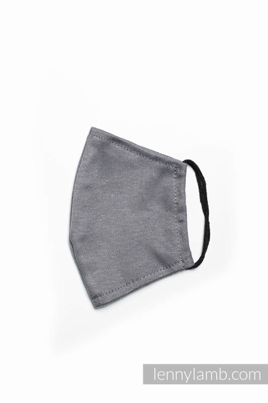 Set of 3 Face Masks - one layer - cotton - Anthracite - size S #babywearing