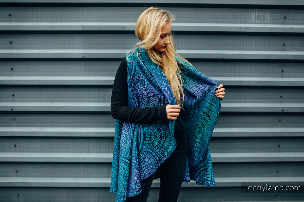Long Cardigan - size 2XL/3XL - PEACOCK'S TAIL PROVANCE #babywearing