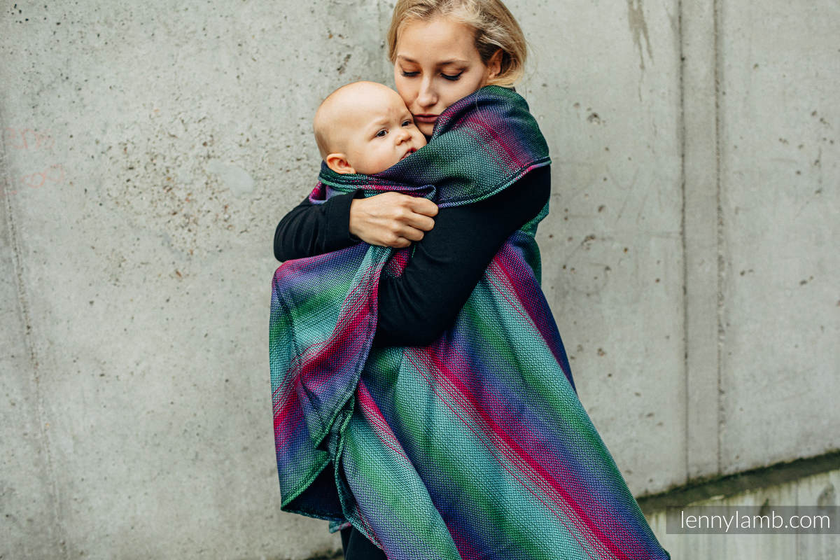 Langer Cardigan - Größe 2XL/3XL - LITTLE HERRINGBONE IMPRESSION DARK #babywearing