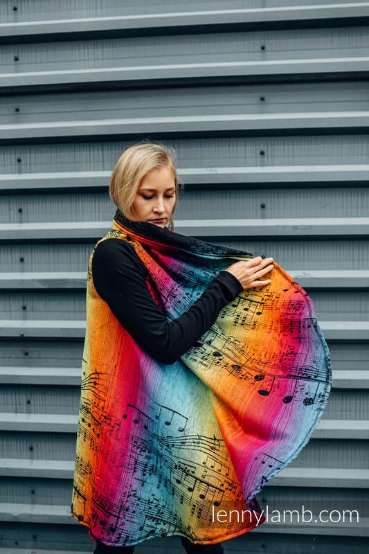 Długi kardigan - rozmiar 2XL/3XL - SYMFONIA TĘCZOWA DARK #babywearing