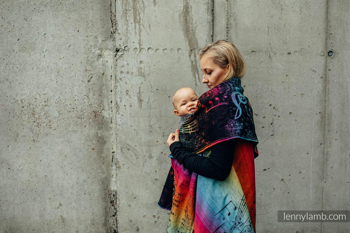 Langer Cardigan - Größe 2XL/3XL - SYMPHONY RAINBOW DARK #babywearing