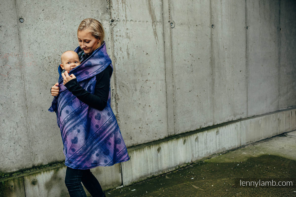 Cardigan long - taille 2XL/3XL - SPACE LACE #babywearing