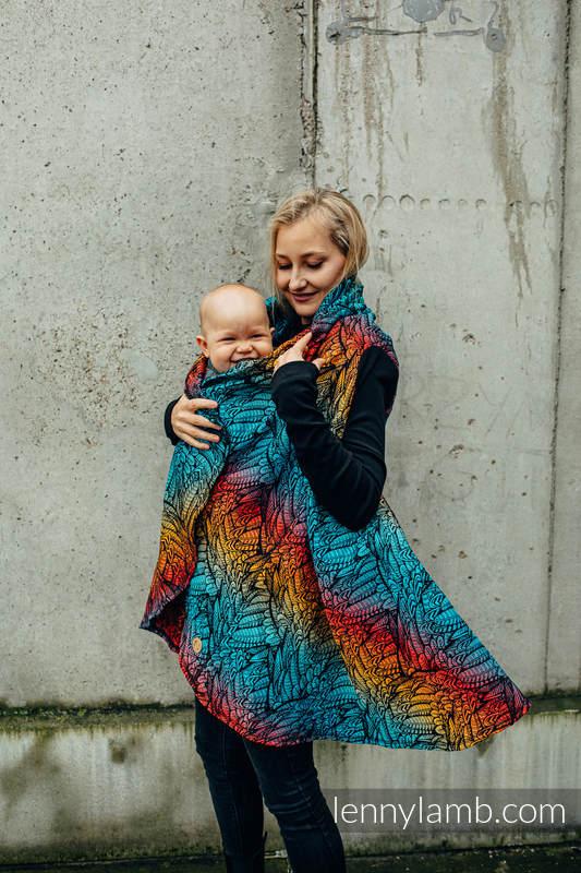 Langer Cardigan - Größe 2XL/3XL - WILD SOUL - DAEDALUS #babywearing