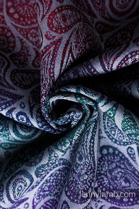 LennyGo Ergonomic Carrier, Baby Size, jacquard weave 100% cotton - PAISLEY - KINGDOM  #babywearing