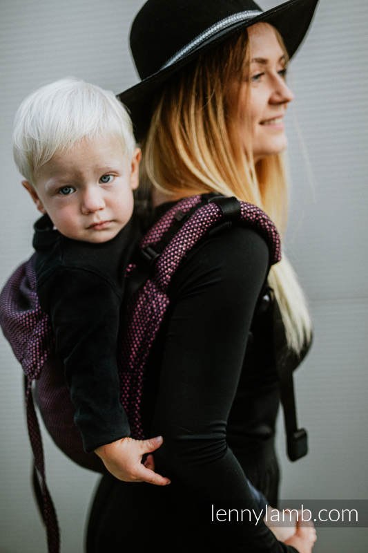 Lenny Buckle Onbuhimo baby carrier, standard size, pearl weave (60% cotton 28% linen 12% tussah silk) - LITTLE PEARL - VARIETE #babywearing