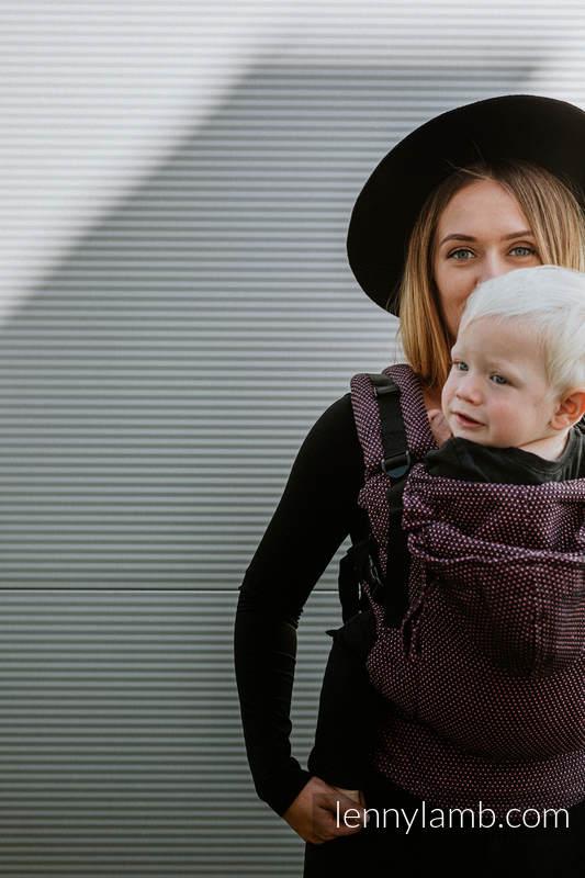 LennyGo Ergonomische Tragehilfe, Größe Toddler, Perlwebung, 60% Baumwolle, 28% Leinen, 12% Tussahseide - LITTLE PEARL - VARIETE #babywearing
