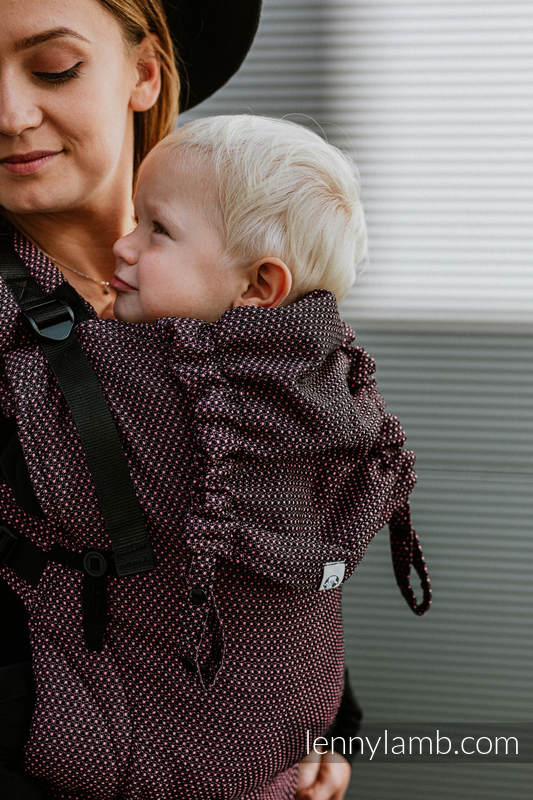 LennyUpGrade Carrier, Standard Size, pearl weave (60% cotton 28% linen 12% tussah silk) - LITTLE PEARL - VARIETE #babywearing