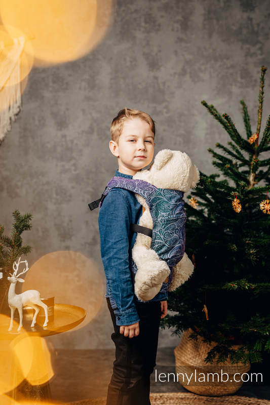 Puppentragehilfe, hergestellt vom gewebten Stoff (100% Baumwolle) - PAISLEY - KINGDOM  #babywearing