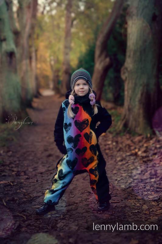 Bear Romper - size 104 - Black & Lovka Rainbow Dark #babywearing