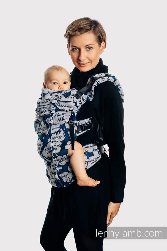 LennyUpGrade Tragehilfe, Größe Standard, Jacquardwebung, 100% Baumwolle - HUG ME - BLUE #babywearing