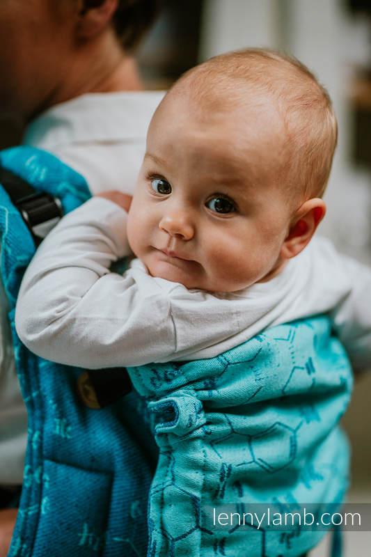 Lenny Buckle Onbuhimo Tragehilfe, Größe Standard, Jacquardwebung (72% Baumwolle, 28% Seide) - LOVE HORMONES - LOVE OCEAN #babywearing