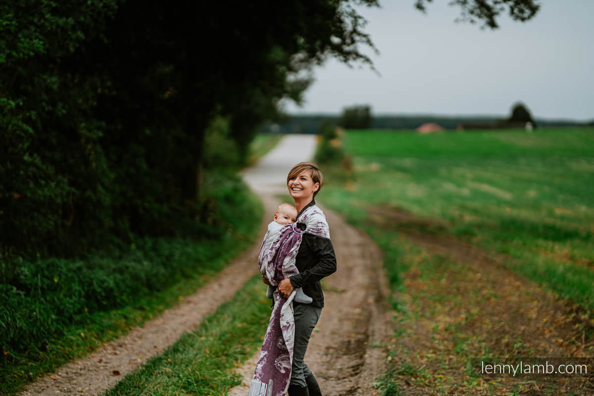Ringsling, Jacquard Weave, with gathered shoulder (78% cotton 22% silk -  GALLOP - RACE - standard 1.8m #babywearing