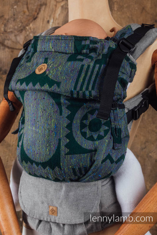 LennyUpGrade Carrier - CHOICE - EXPERIMENT no.10 - Standard Size, jacquard weave, (43% tussah silk, 31% combed cotton, 9% merino wool, 9% cashmere, 8%mulberry silk) #babywearing