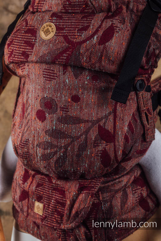 LennyUpGrade Carrier, Standard Size, jacquard weave, (43% tussah silk, 31% combed cotton, 9% merino wool, 9% cashmere, 8% mulberry silk) - EXPERIMENT no.24 #babywearing