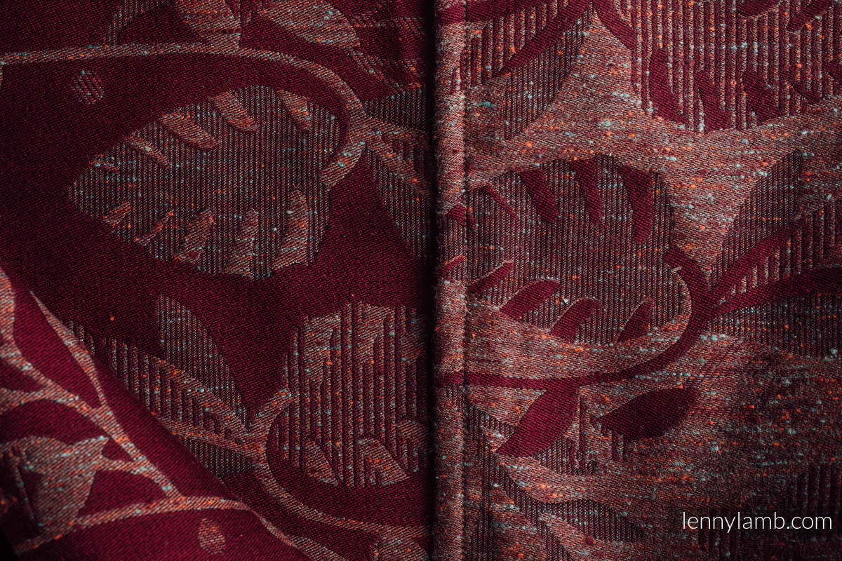 Baby Wrap, Jacquard Weave, (43% tussah silk, 31% combed cotton, 9% merino wool, 9% cashmere, 8% mulberry silk) - EXPERIMENT no.24 - size XS #babywearing