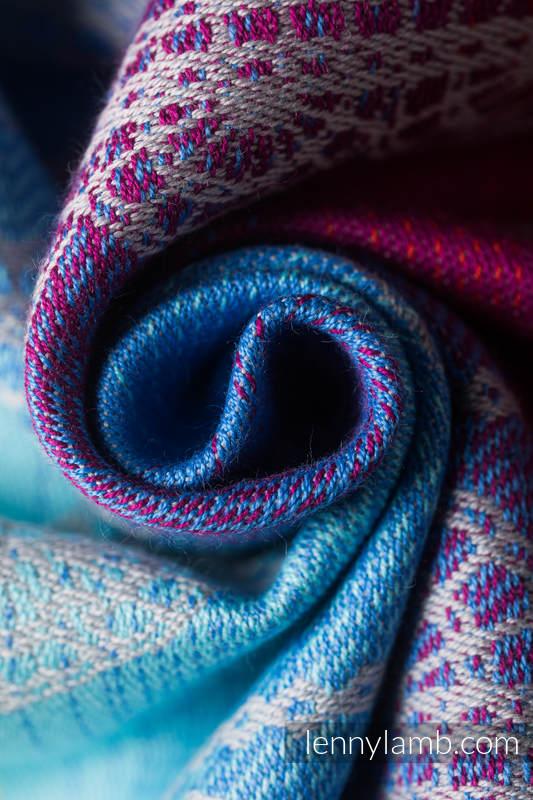 LennyHybrid Half Buckle Carrier, Standard Size, jacquard weave 100% cotton - RAINBOW LACE SILVER  #babywearing