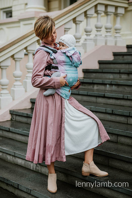 LennyGo Ergonomic Carrier, Toddler Size, jacquard weave (91% cotton, 9% tencel) - UNICORN LACE #babywearing