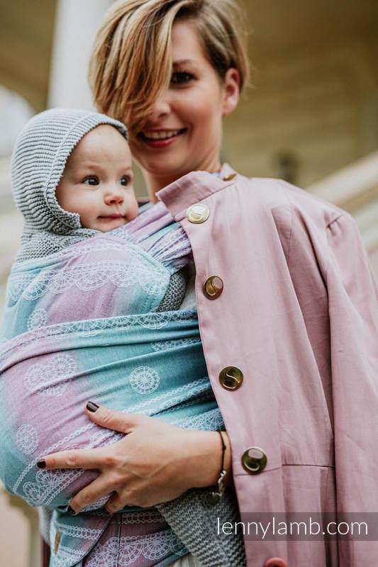 LennyHybrid Half Buckle Carrier, Standard Size, jacquard weave (91% cotton, 9% tencel) - UNICORN LACE #babywearing