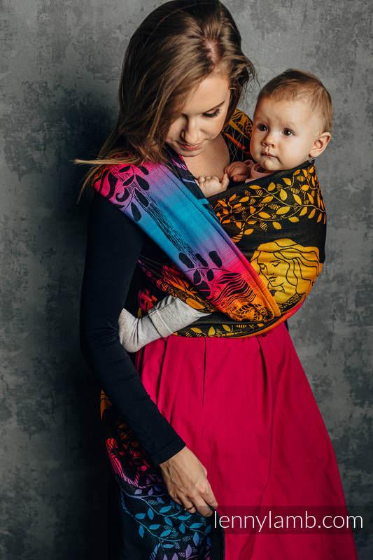 Baby Wrap, Jacquard Weave (100% cotton) - WEAVING CHALLENGE - EMBRACING THE FUTURE - size XS #babywearing